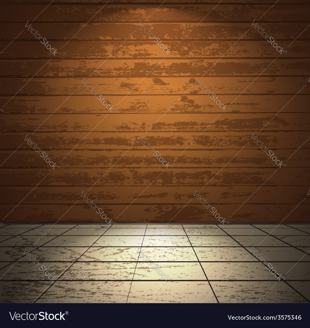 Wooden room with light floor vector | Price: 1 Credit (USD $1)