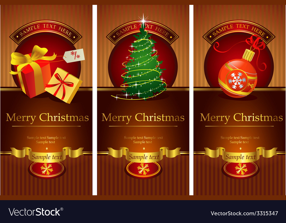 Classic christmas banners vector | Price: 1 Credit (USD $1)