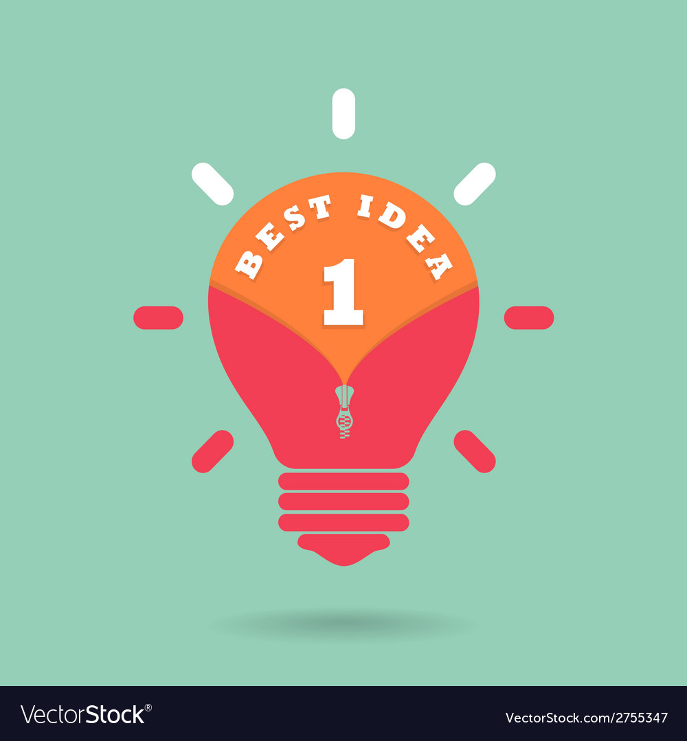 Creative light bulb idea concept with the best id vector | Price: 1 Credit (USD $1)