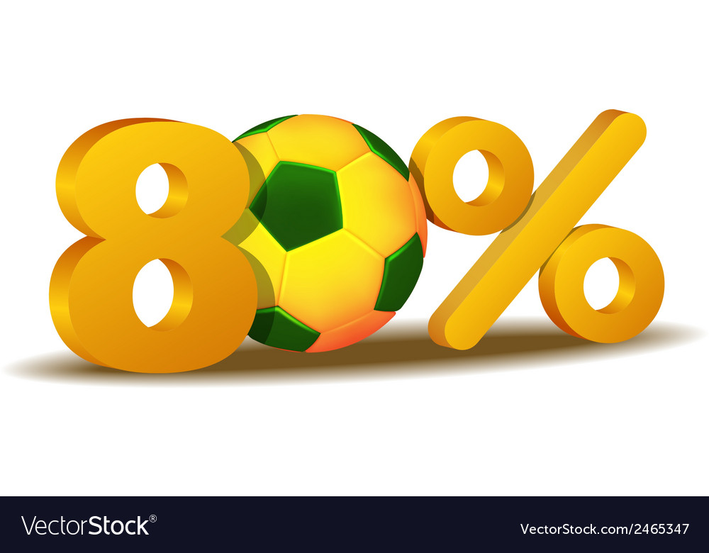 Eighty percent discount icon vector | Price: 1 Credit (USD $1)