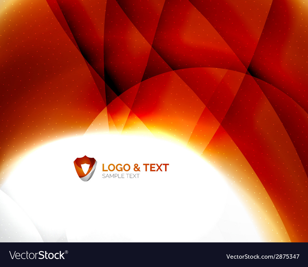 Fire orange abstract swirl template vector | Price: 1 Credit (USD $1)