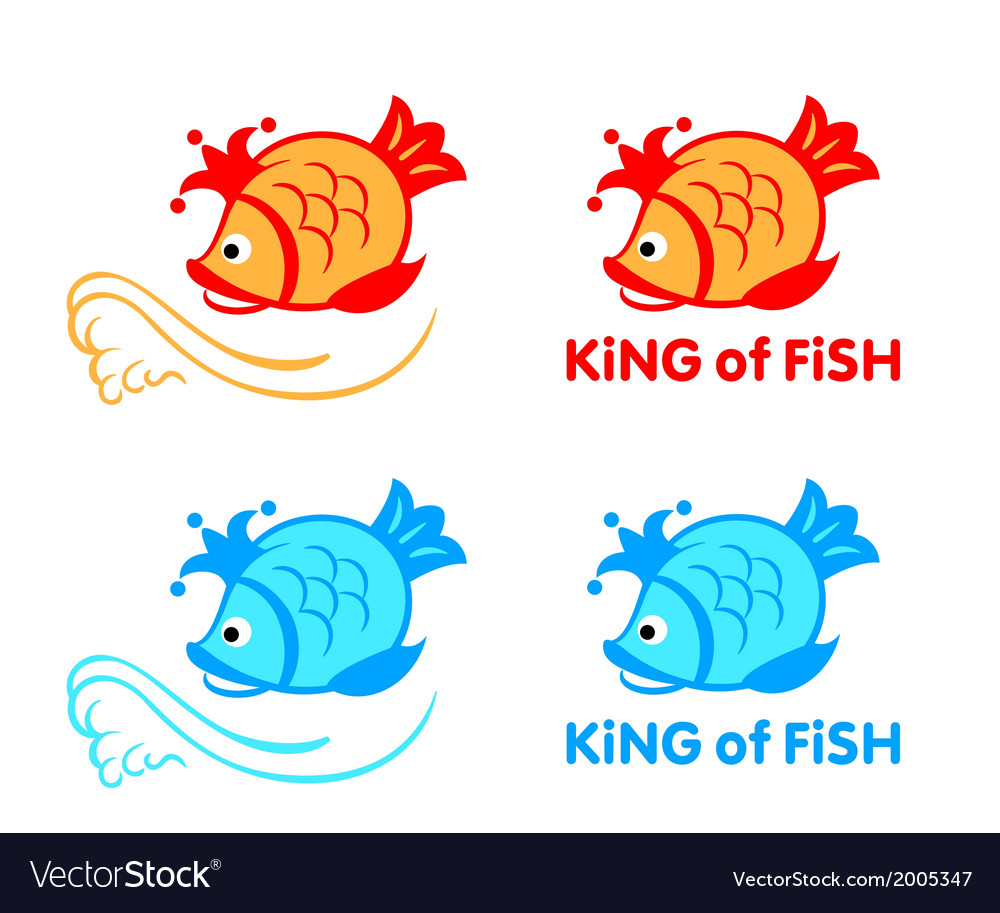 King of fish symbol vector | Price: 1 Credit (USD $1)