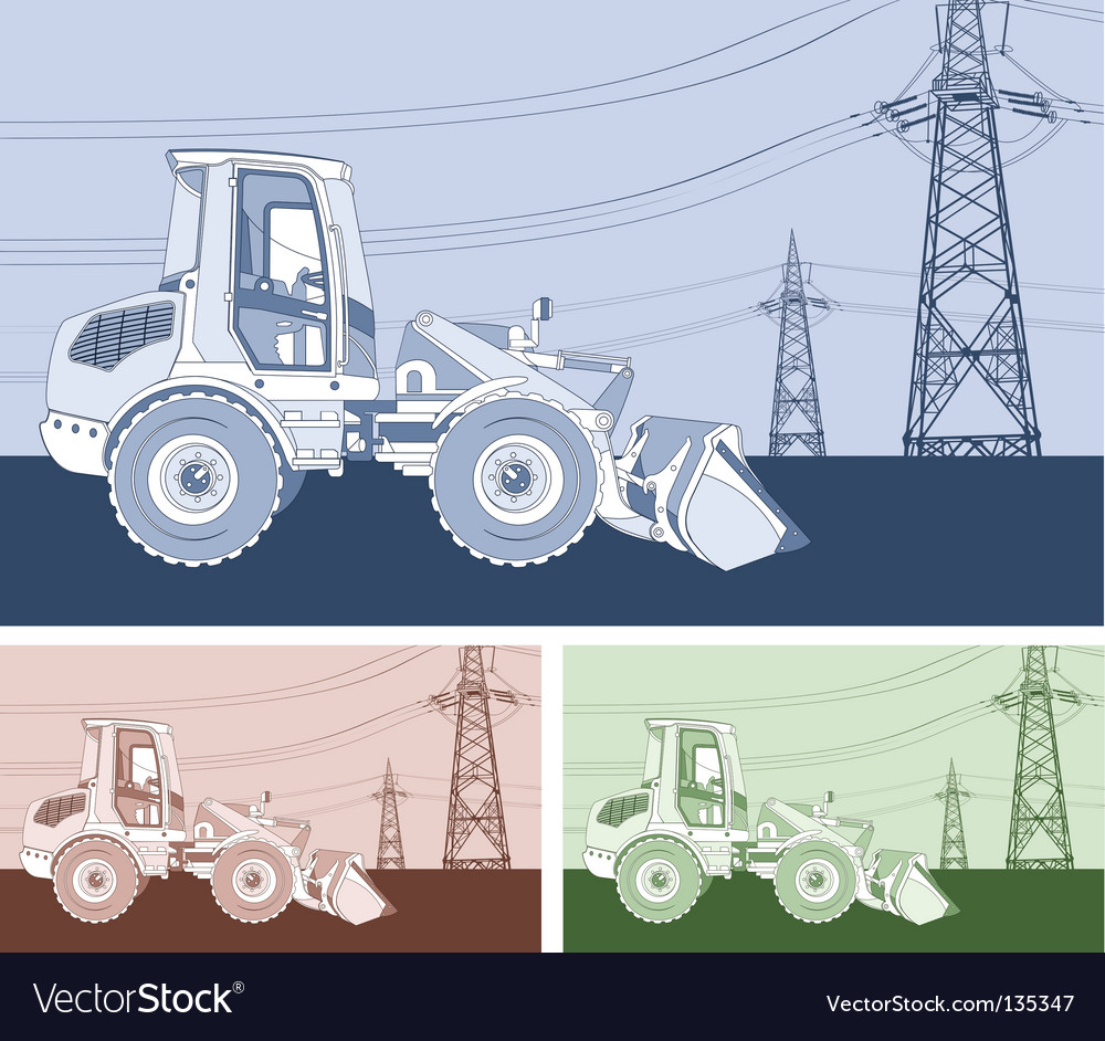 Monochrome dredge vector | Price: 1 Credit (USD $1)