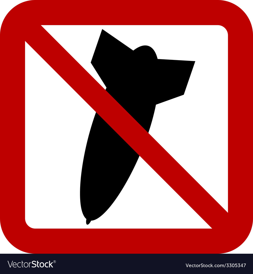 No bomb sign vector | Price: 1 Credit (USD $1)