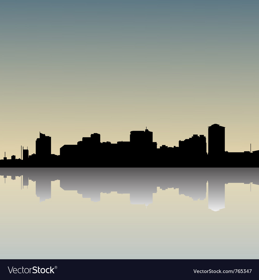 Skyline dusk vector | Price: 1 Credit (USD $1)