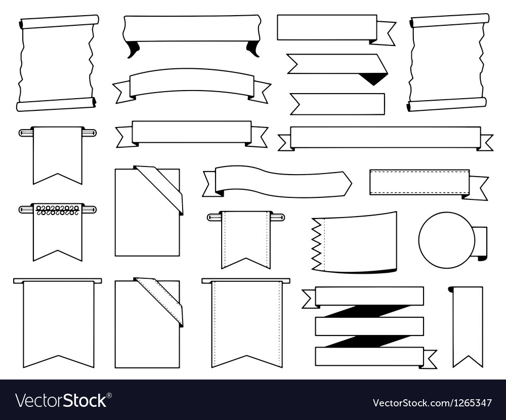 White labels set vector | Price: 1 Credit (USD $1)