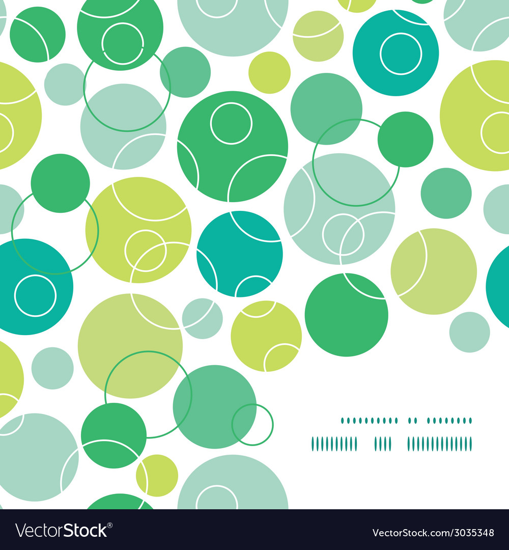 Abstract green circles frame corner pattern vector   Price: 1 Credit (USD $1)