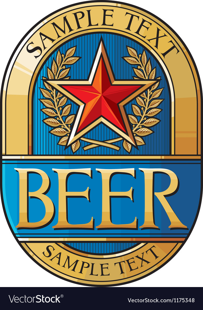 Beer label design vector | Price: 3 Credit (USD $3)