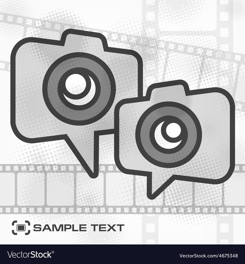 Camera icon  film strip vector | Price: 1 Credit (USD $1)
