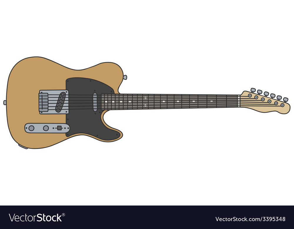 Classic electric guitar vector | Price: 1 Credit (USD $1)