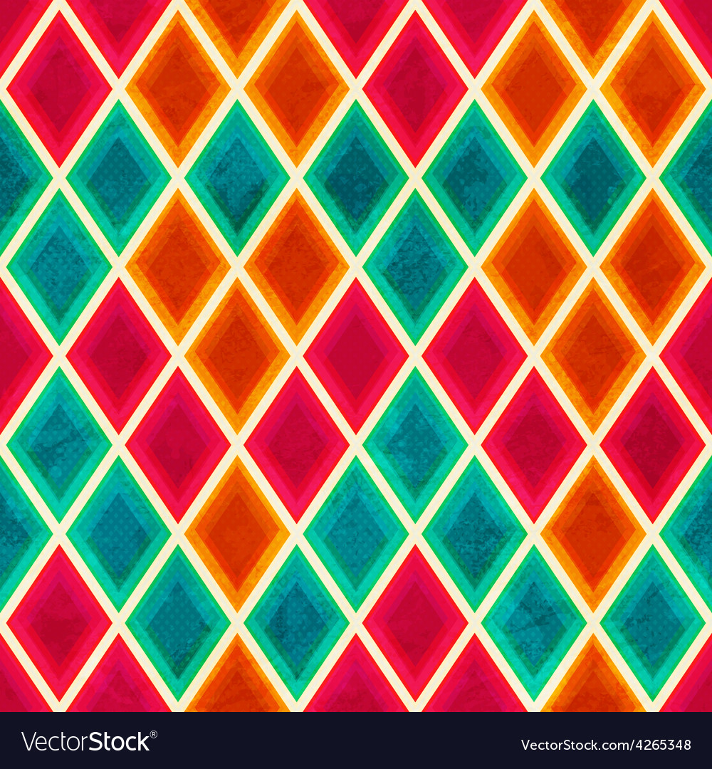 Colored mosaic seamless pattern vector | Price: 1 Credit (USD $1)