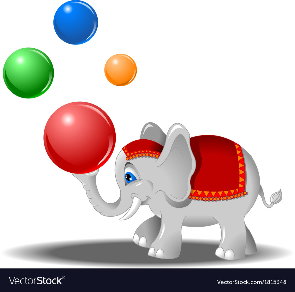 Elephant at the circus vector | Price: 1 Credit (USD $1)