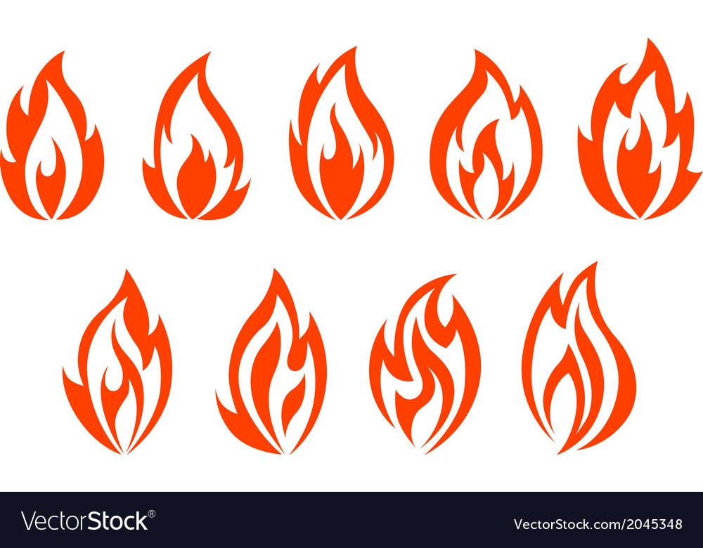 Fire flames symbols vector | Price: 1 Credit (USD $1)