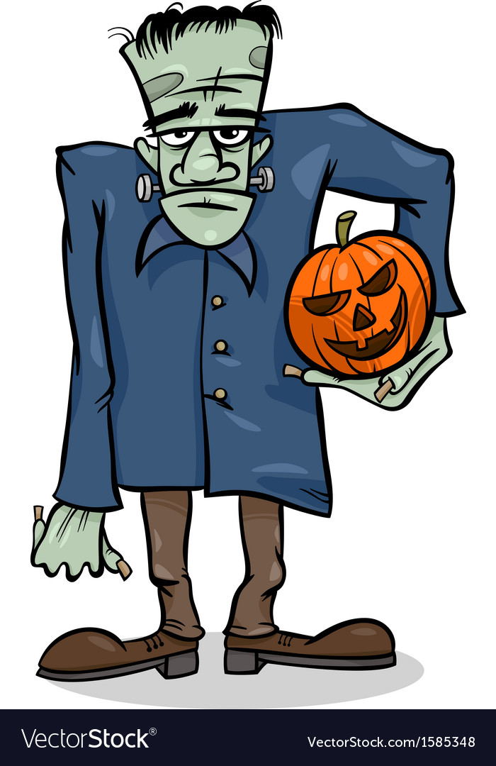 Halloween frankenstein cartoon vector | Price: 1 Credit (USD $1)