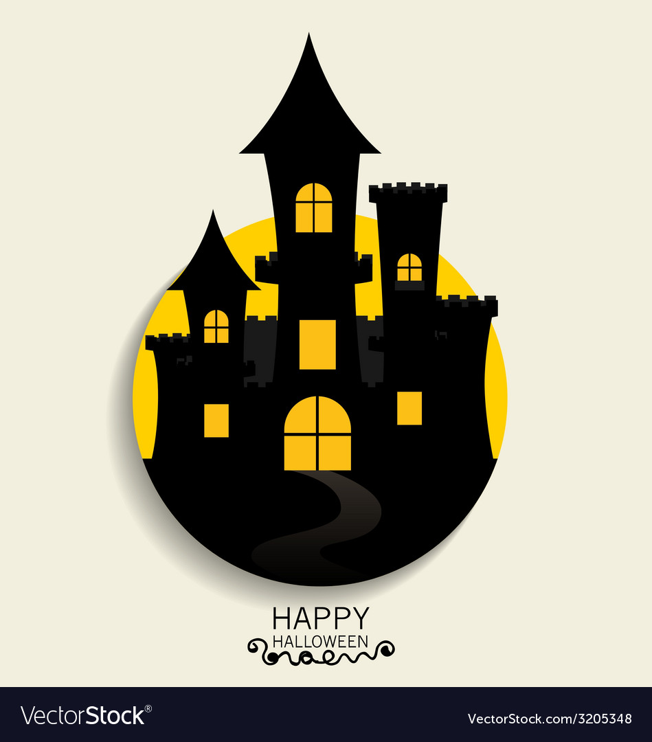 Happy halloween design background cute note paper vector | Price: 1 Credit (USD $1)