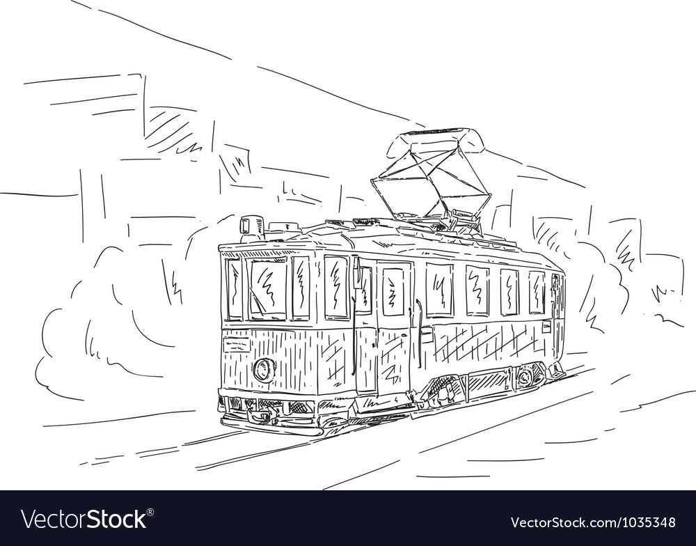 Historic tram vector | Price: 1 Credit (USD $1)