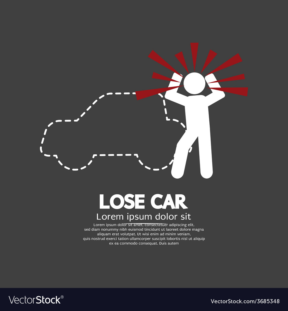 Lose car concept graphic symbol vector | Price: 1 Credit (USD $1)