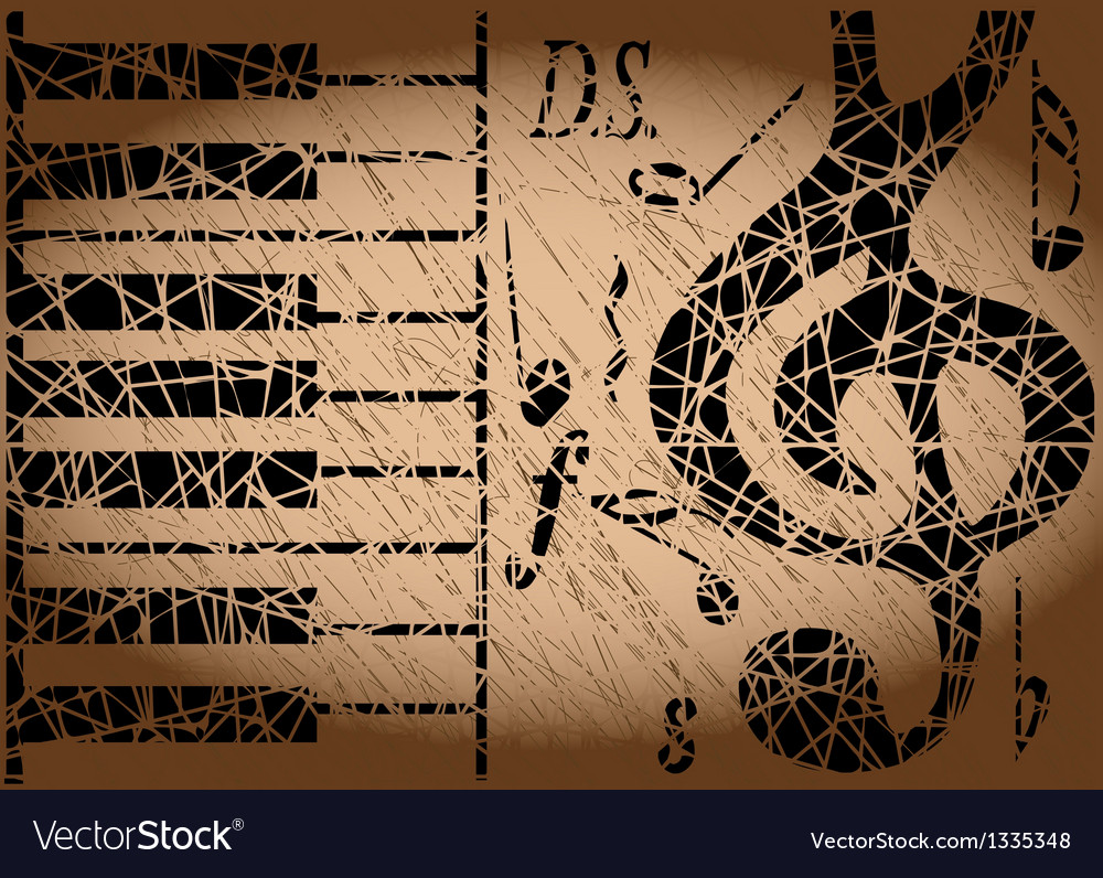 Old musical background vector | Price: 1 Credit (USD $1)