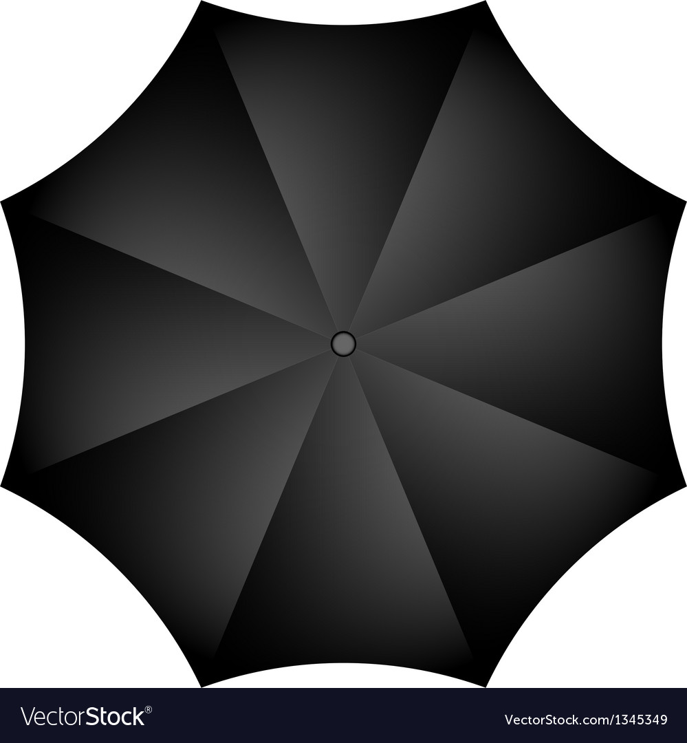 Black umbrella vector | Price: 1 Credit (USD $1)