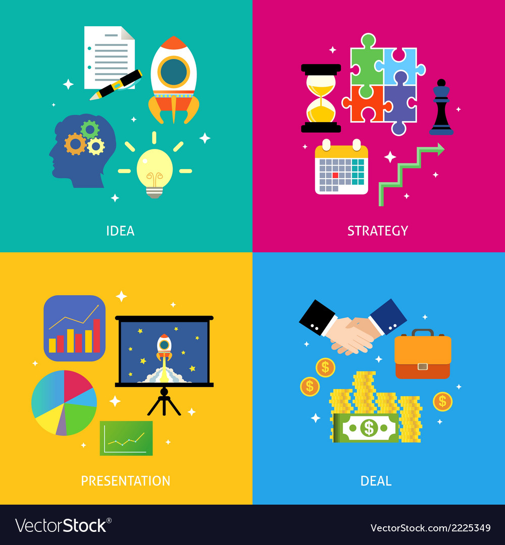 Business steps concept flat vector | Price: 1 Credit (USD $1)