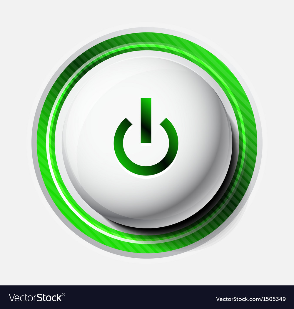 Color power button vector | Price: 1 Credit (USD $1)