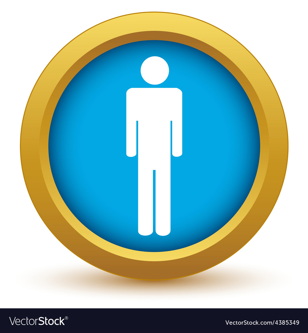 Gold man icon vector | Price: 1 Credit (USD $1)