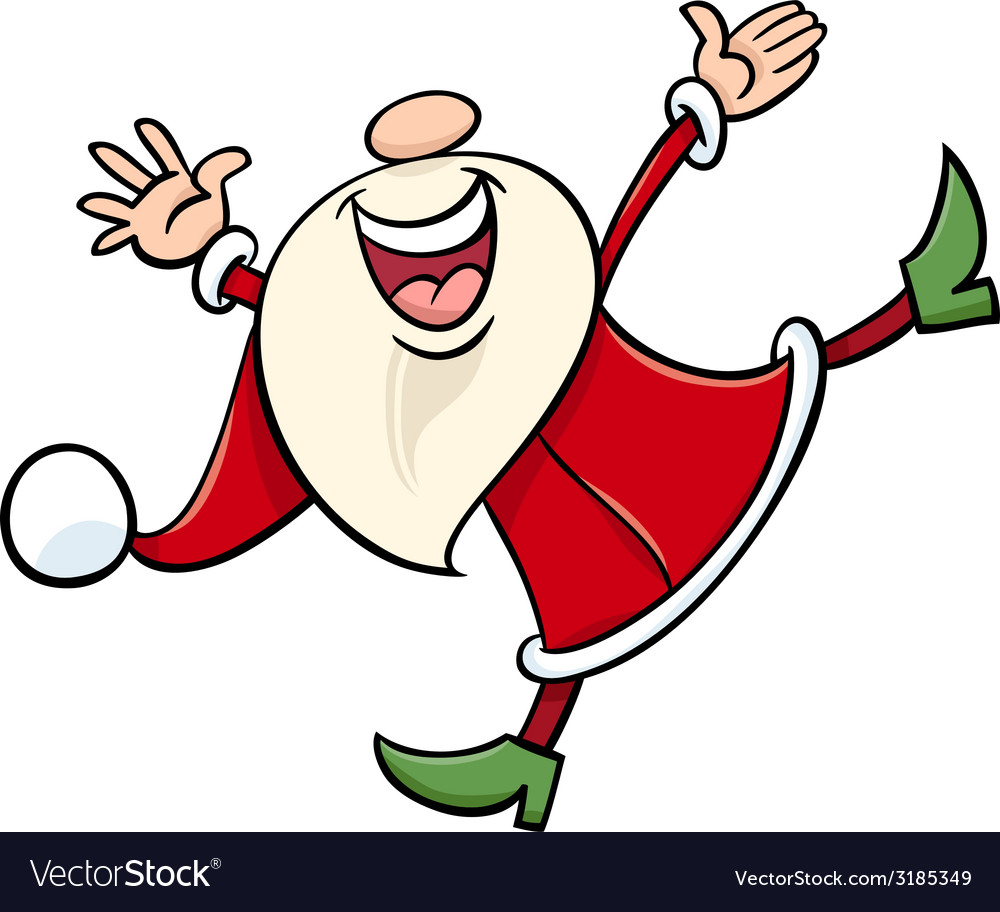 Happy santa claus cartoon vector | Price: 1 Credit (USD $1)