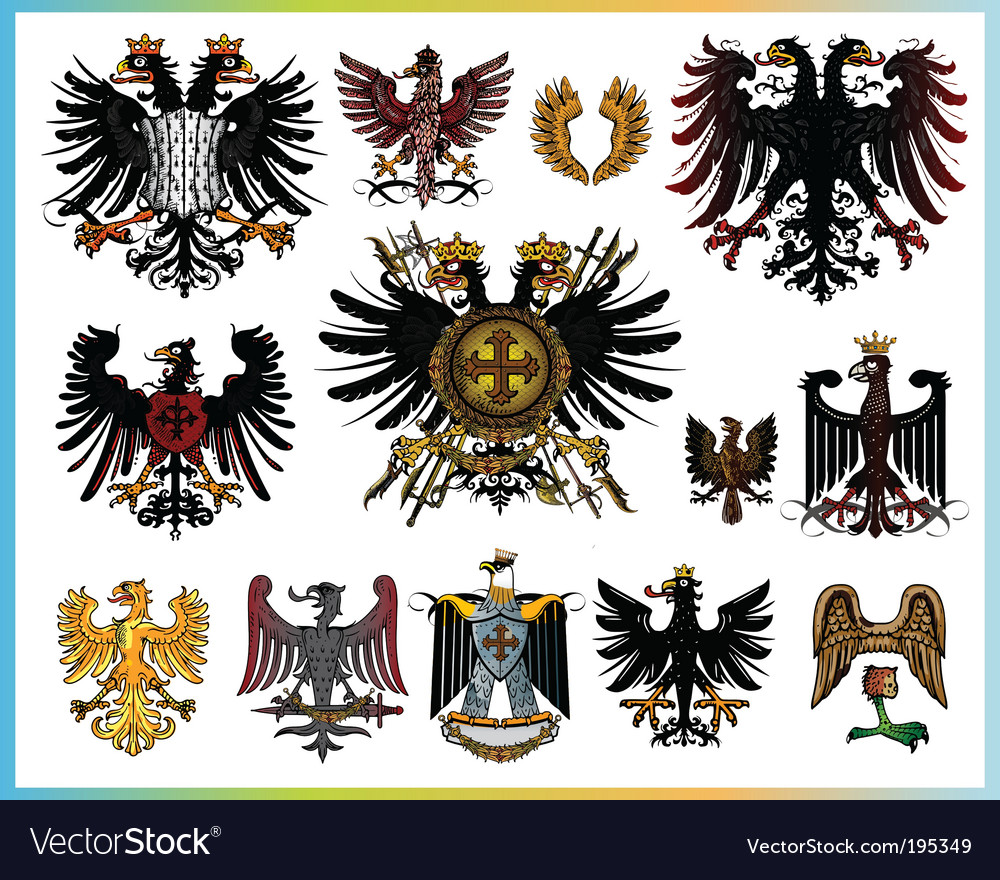 Heraldic eagles vector | Price: 3 Credit (USD $3)