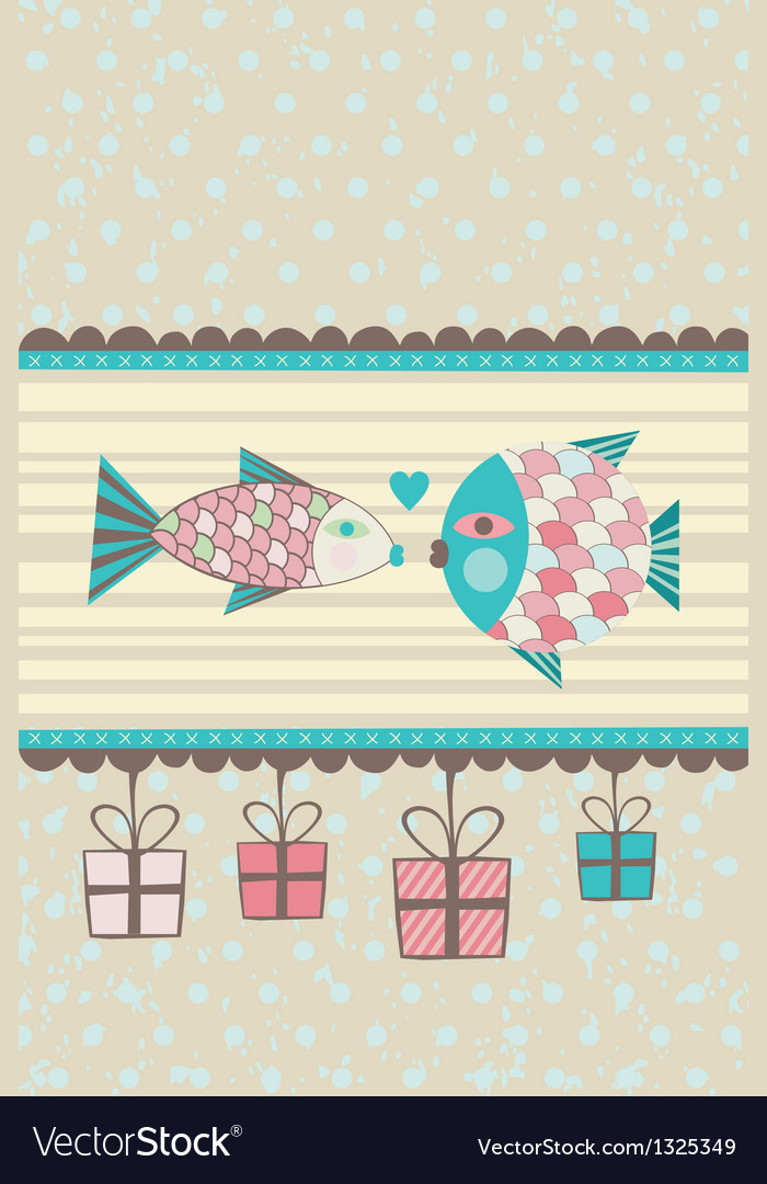 Kissing fish vector | Price: 1 Credit (USD $1)