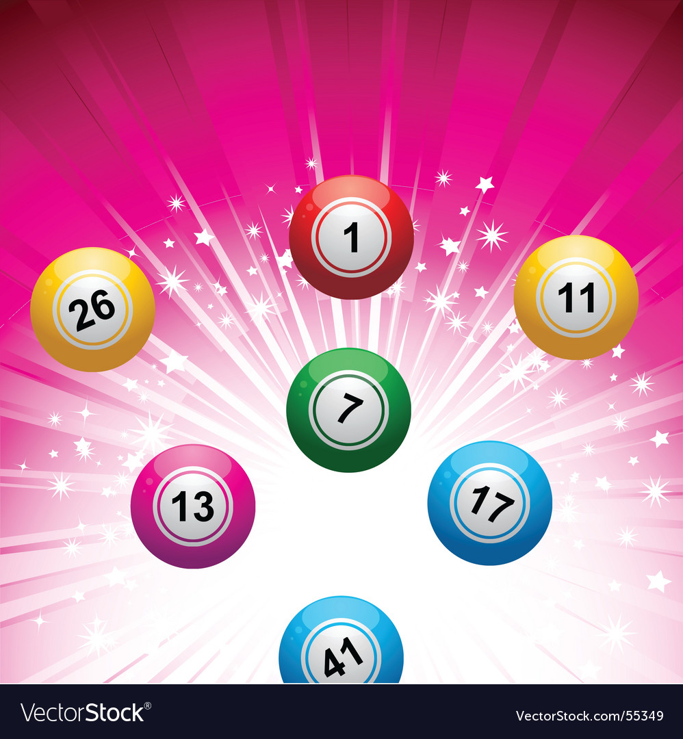 Lottery ball background vector | Price: 1 Credit (USD $1)