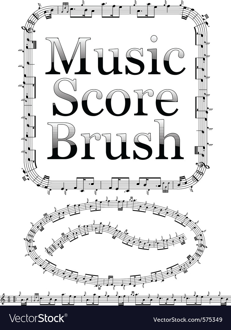 Music score brush vector | Price: 1 Credit (USD $1)