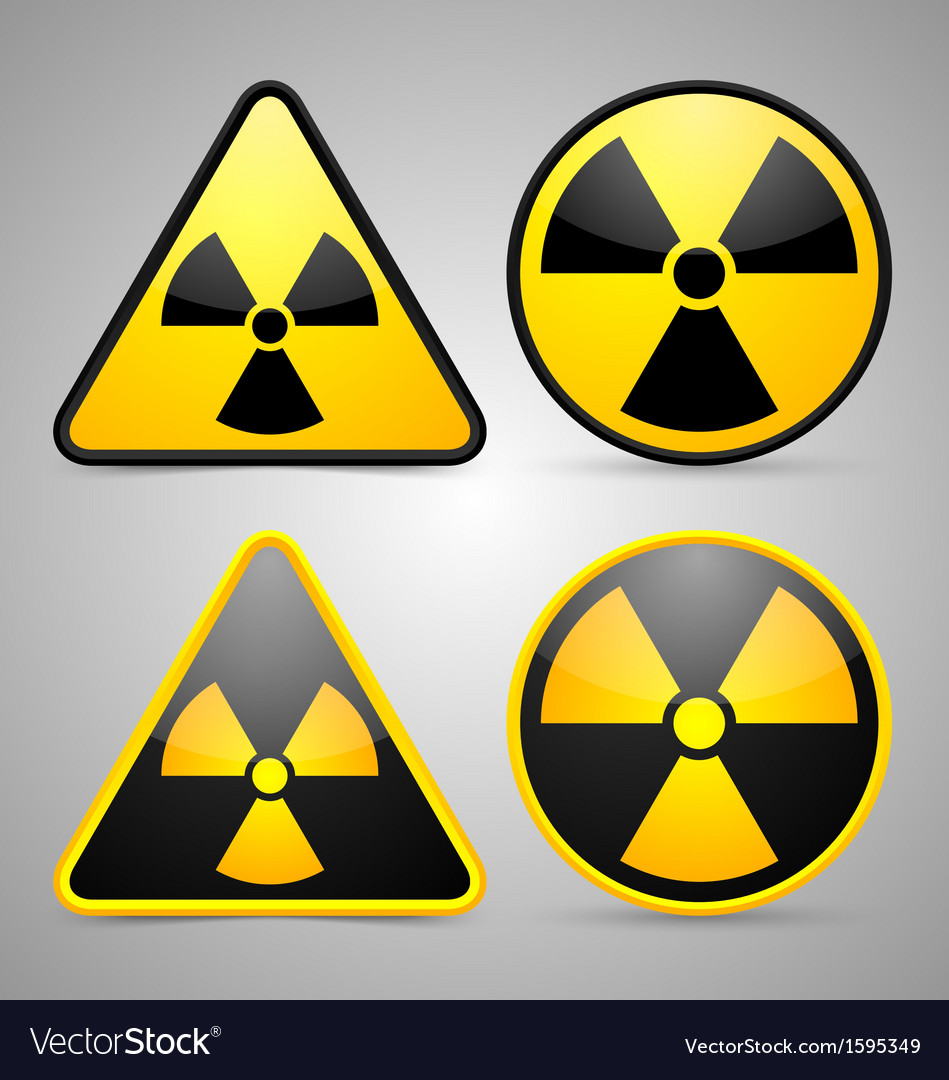 Nuclear symbols vector | Price: 1 Credit (USD $1)