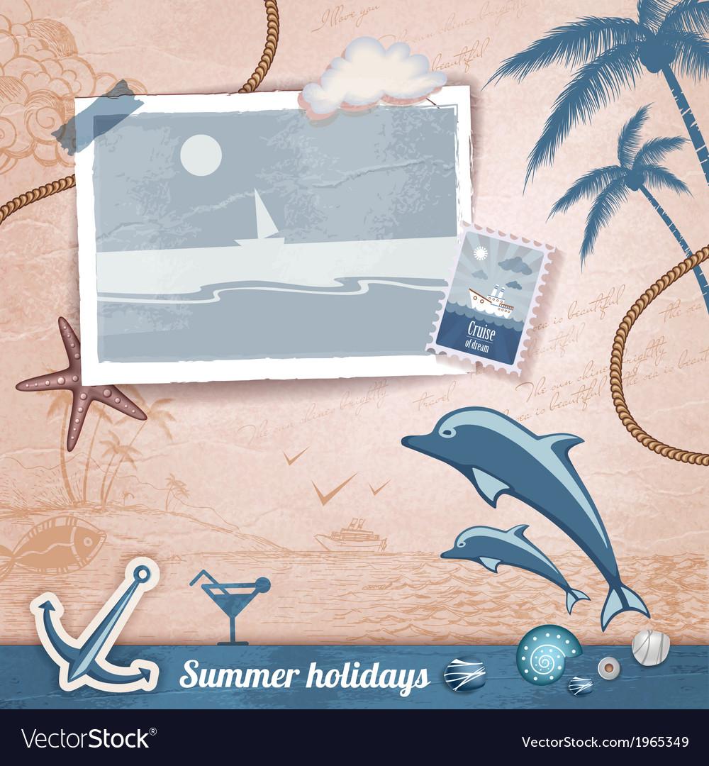 Summer scrapbooking photo album vector   Price: 1 Credit (USD $1)