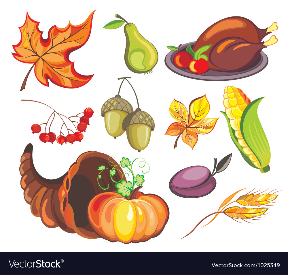 Thanksgiving design elements vector | Price: 3 Credit (USD $3)