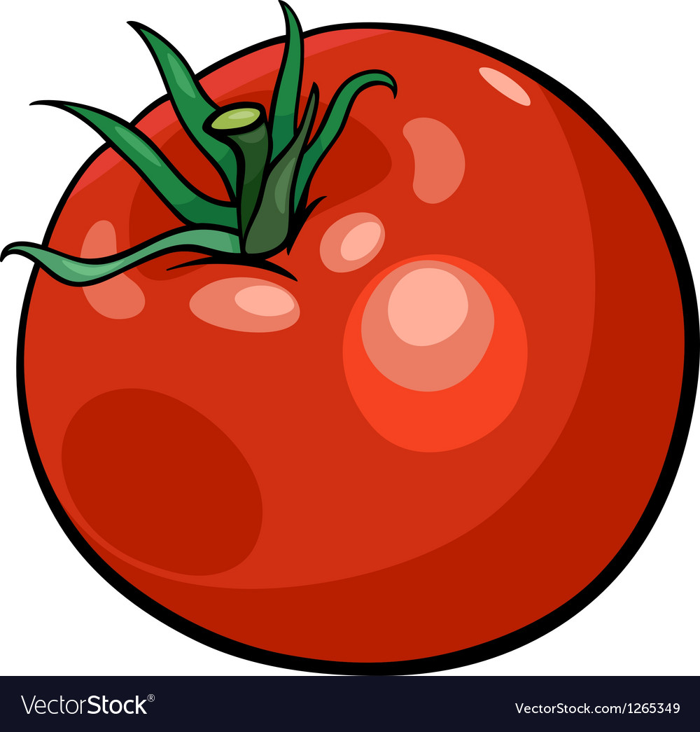 Tomato vegetable cartoon vector | Price: 1 Credit (USD $1)