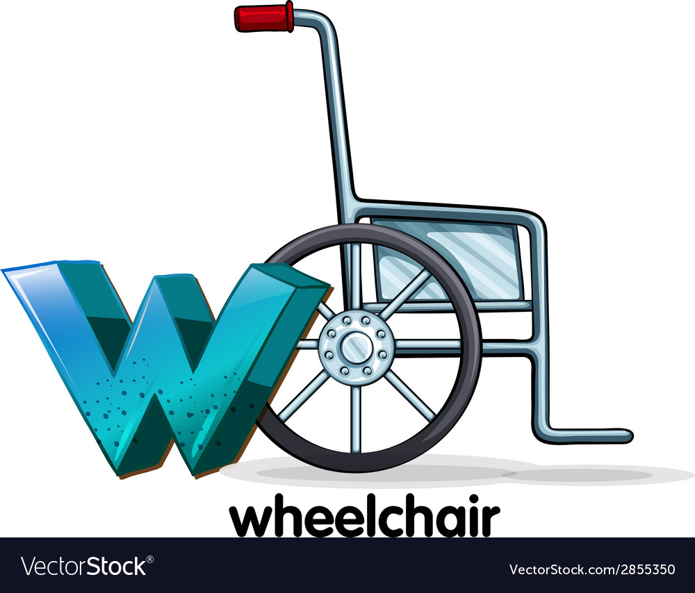 A letter w for wheelchair vector | Price: 1 Credit (USD $1)