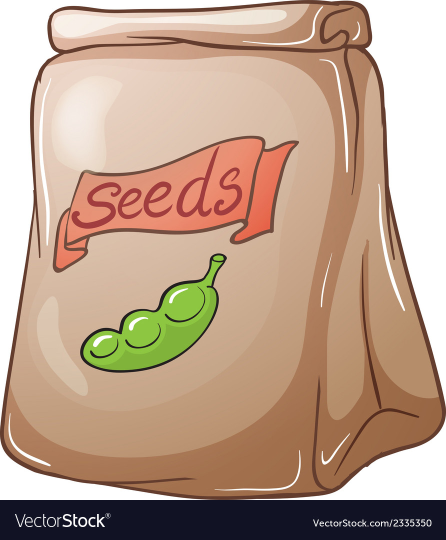 A pack of seeds vector | Price: 1 Credit (USD $1)