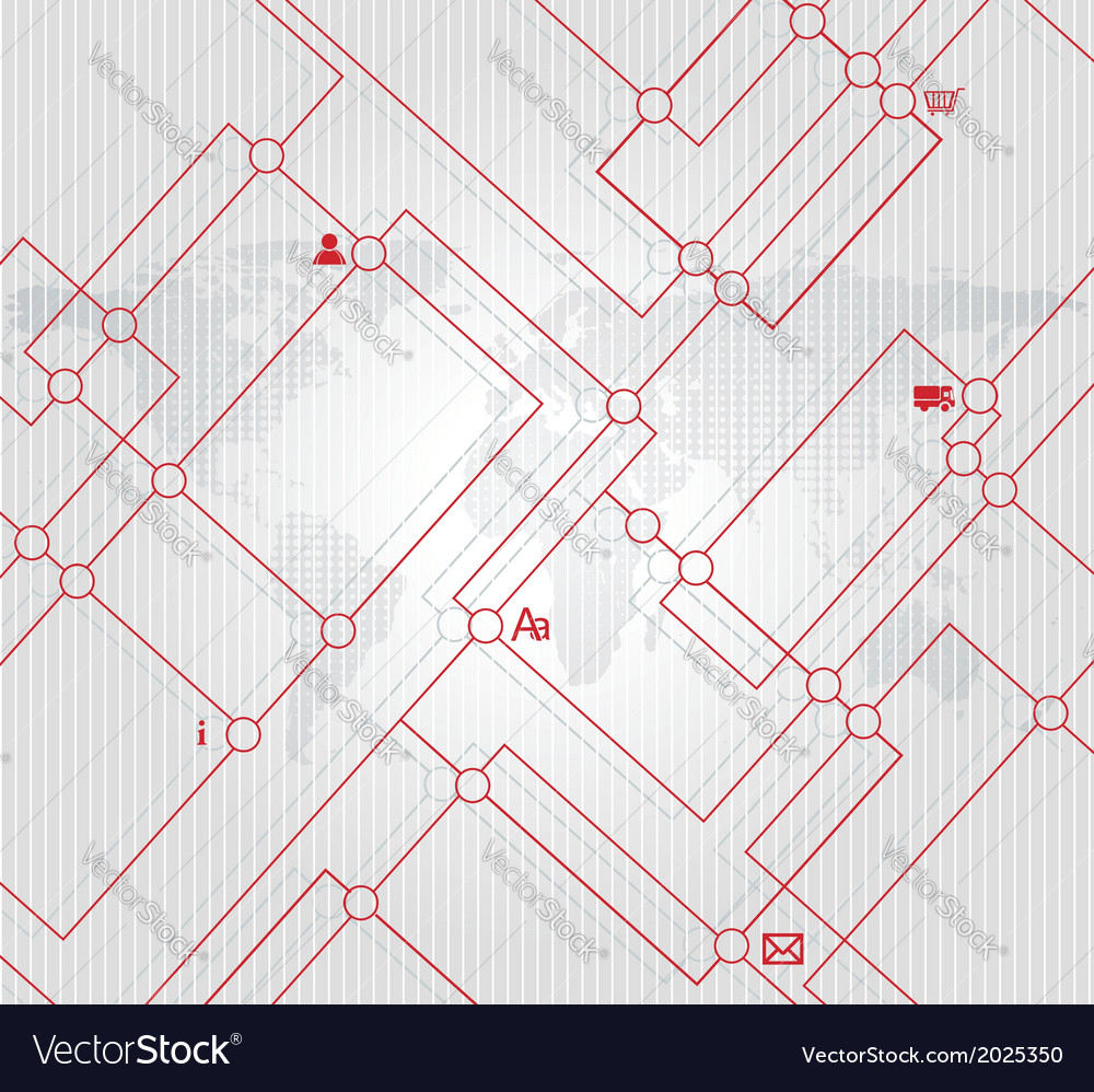 Abstract city map or metro scheme background vector | Price: 1 Credit (USD $1)