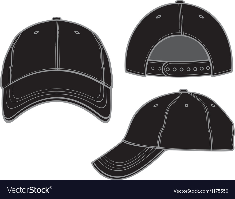 Black baseball cap vector | Price: 1 Credit (USD $1)