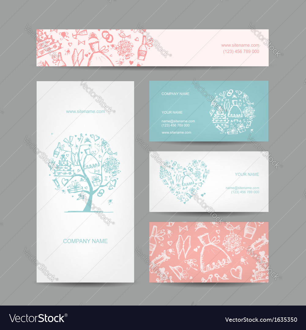 Business cards design weddign concept vector | Price: 1 Credit (USD $1)