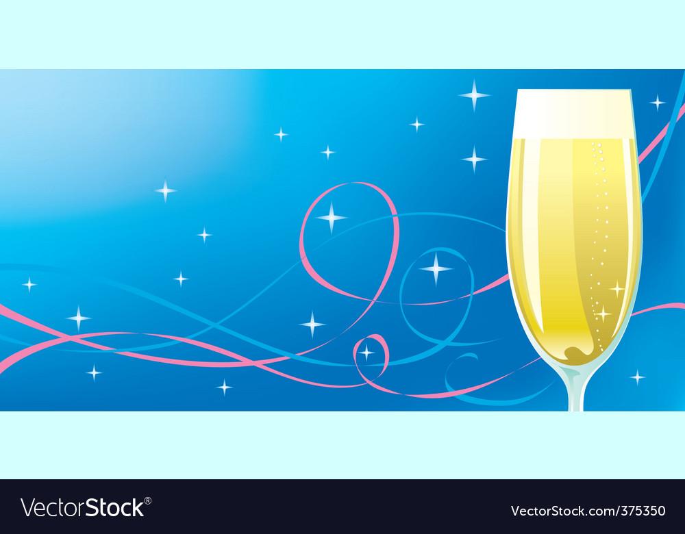 Celebration champagne vector | Price: 1 Credit (USD $1)