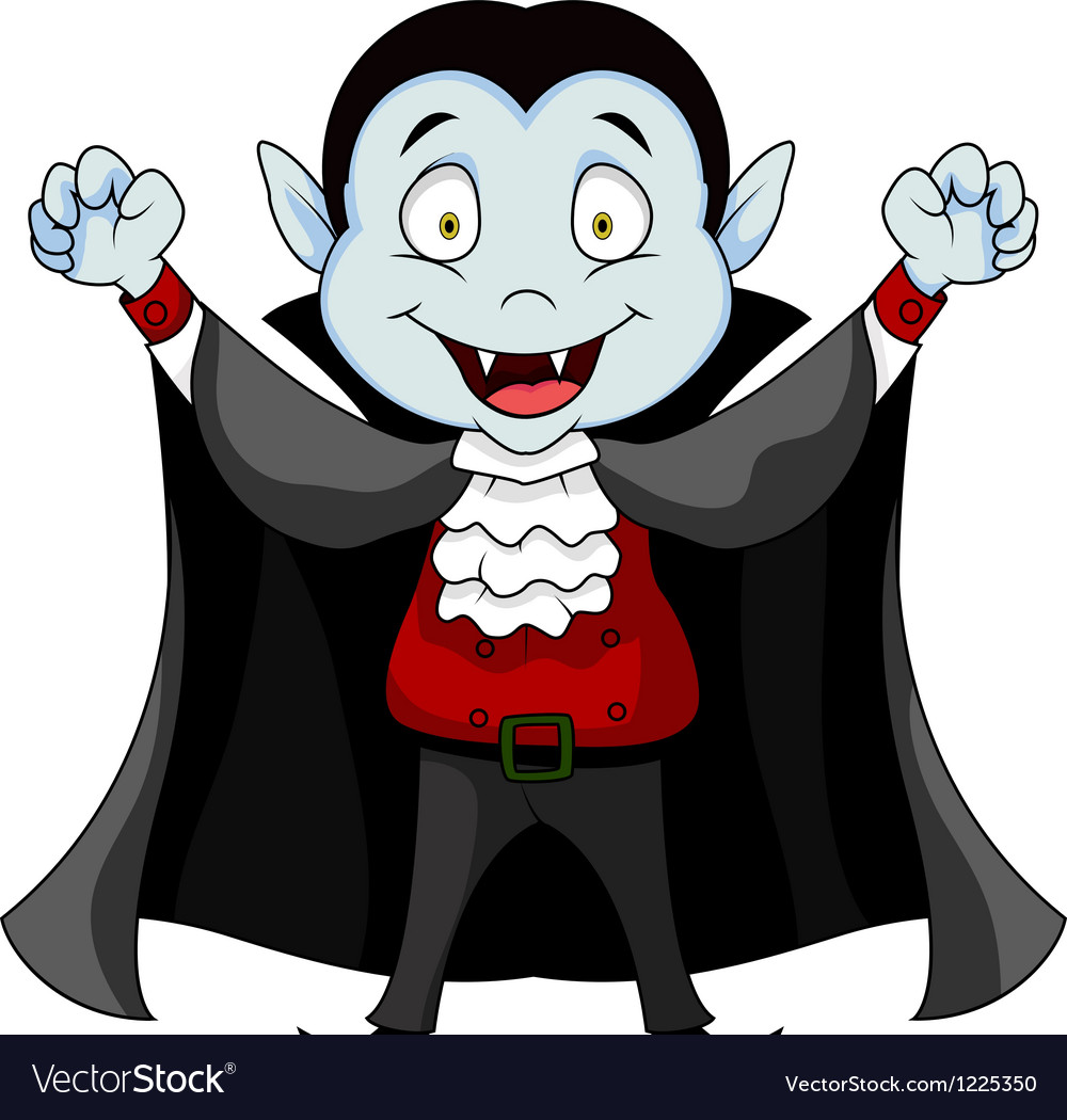 Funny vampire cartoon vector | Price: 3 Credit (USD $3)