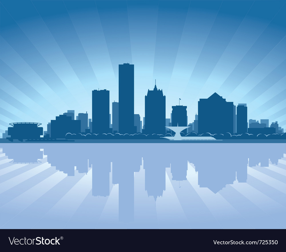 Milwaukee wisconsin skyline vector | Price: 1 Credit (USD $1)