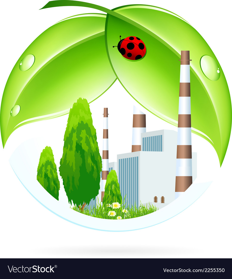 Power plant icon vector | Price: 1 Credit (USD $1)