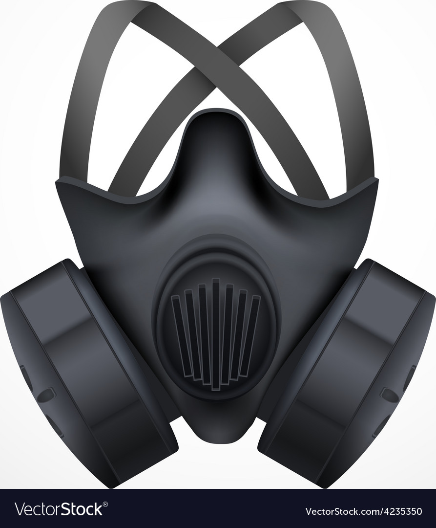 Respirator mask isolated white background vector | Price: 1 Credit (USD $1)