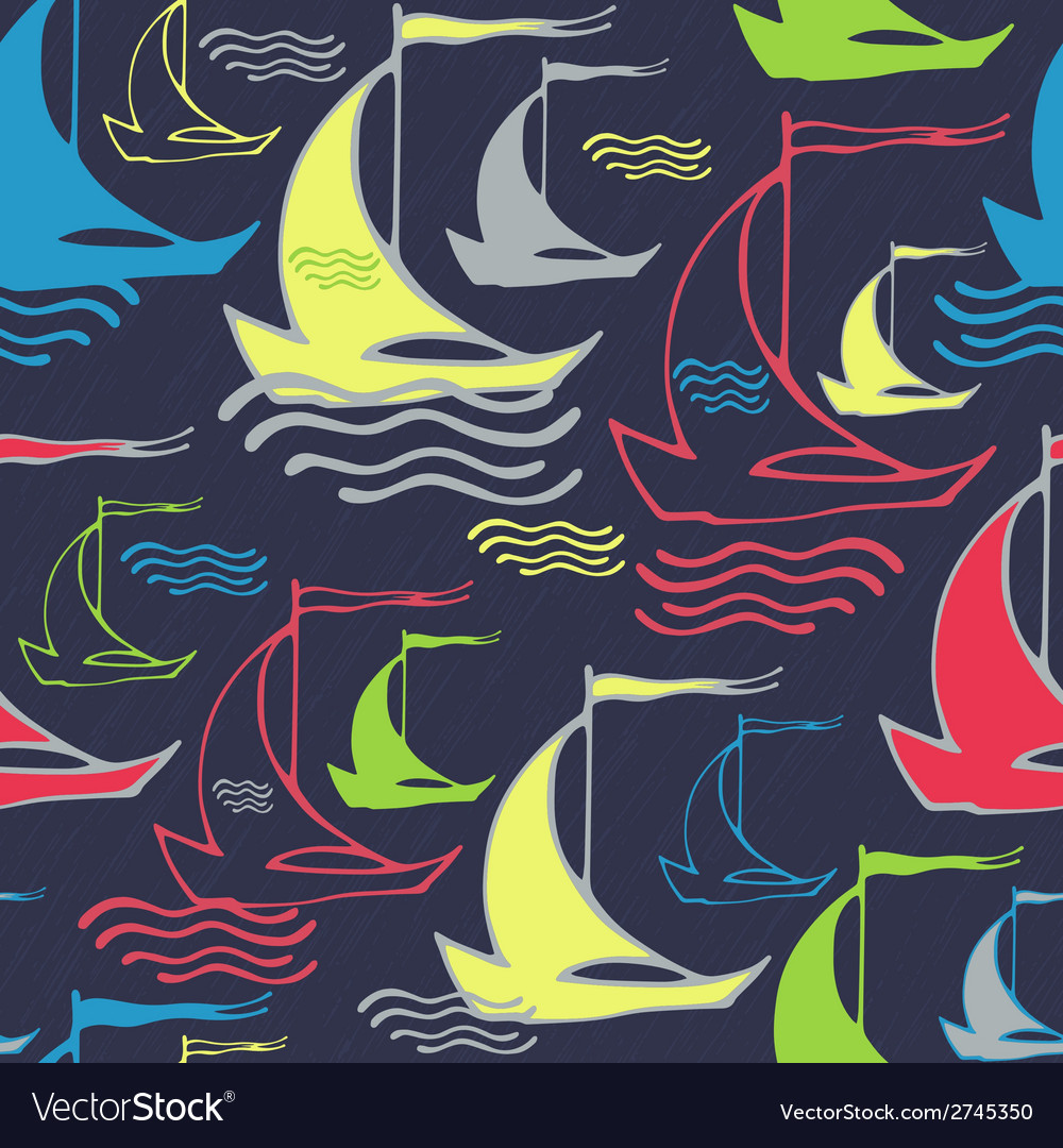 Seamless pattern with vintage decorative sailing vector | Price: 1 Credit (USD $1)
