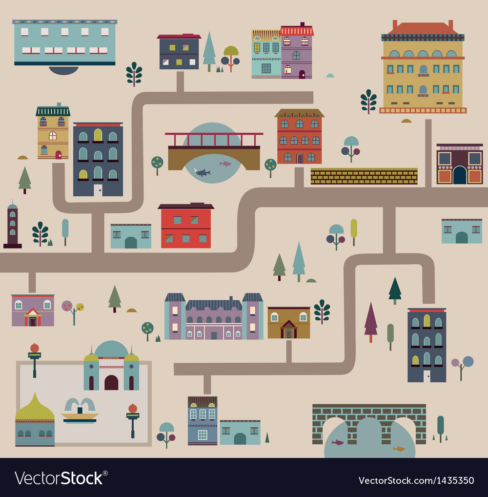 Set of city streets infographics vector | Price: 3 Credit (USD $3)