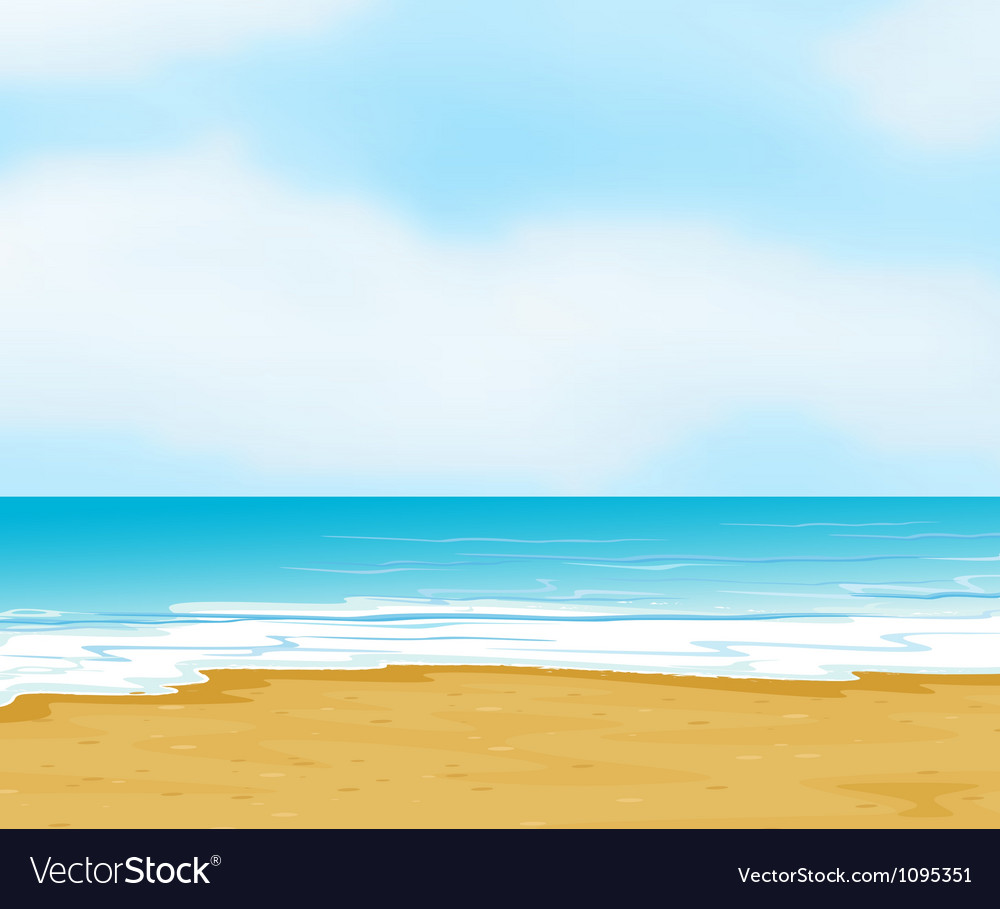 An ocean and a beach vector | Price: 1 Credit (USD $1)