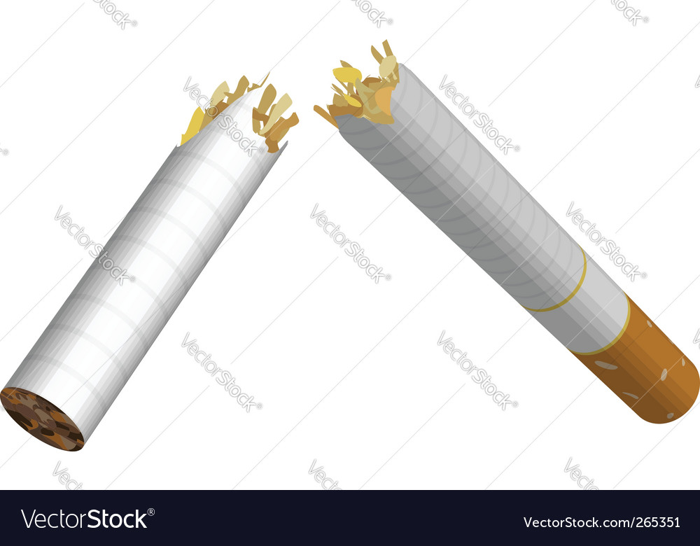 Broken cigarette vector | Price: 3 Credit (USD $3)