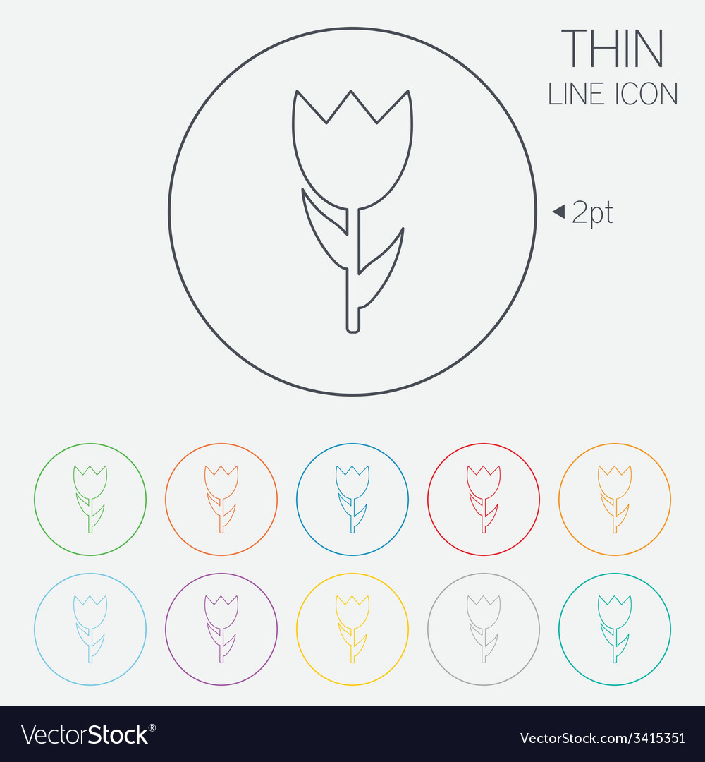 Flower sign icon rose symbol vector   Price: 1 Credit (USD $1)